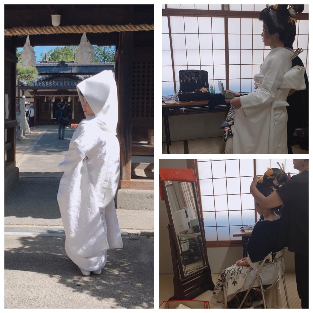 自宅近くの神社で結婚式