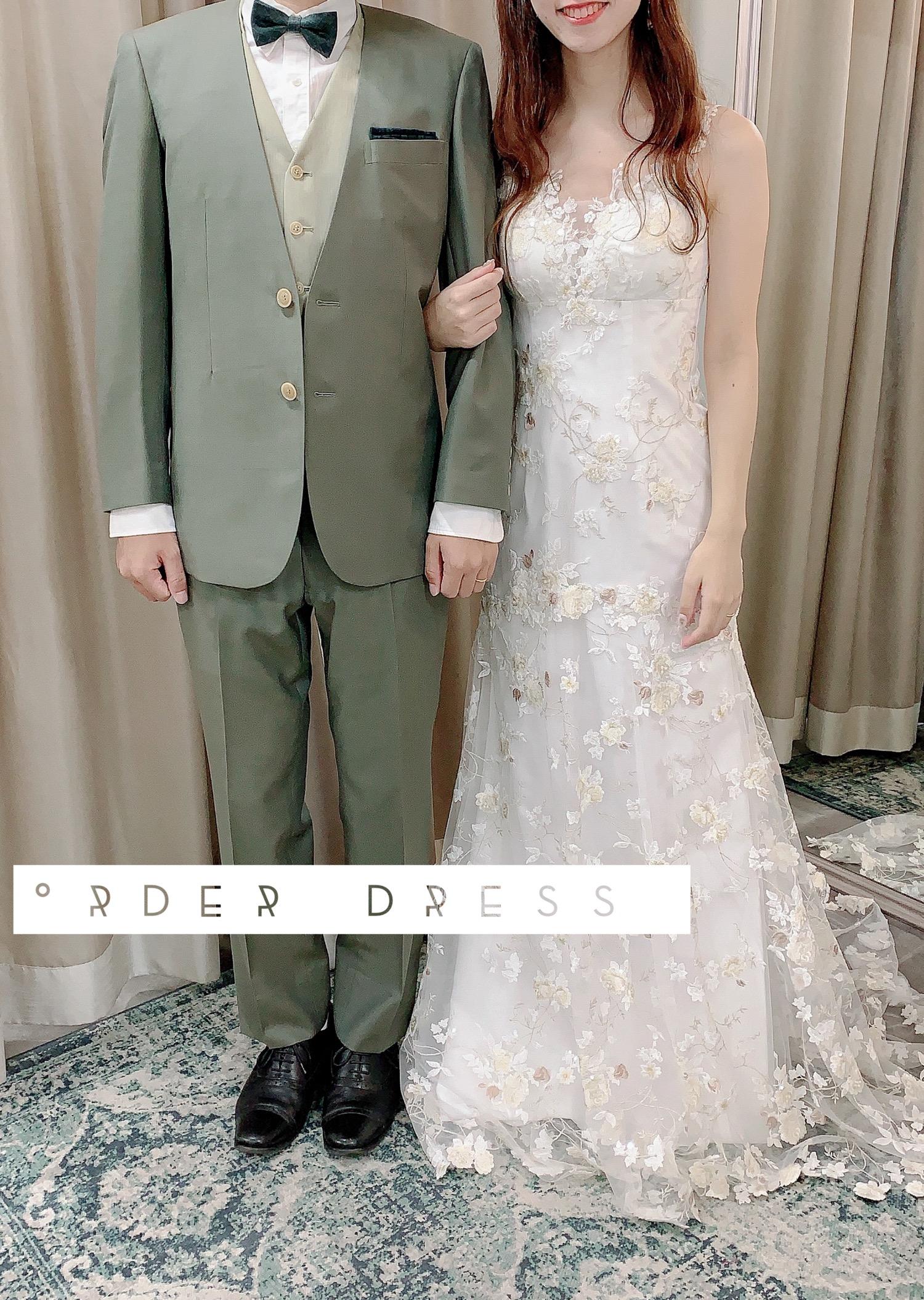 フルオーダードレスとタキシード